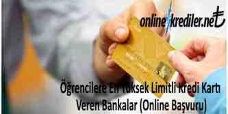öğrencilere yüksek limitli kredi kartı