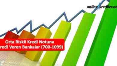 Photo of Orta Riskli Kredi Notuna Kredi Veren Bankalar (700-1099)