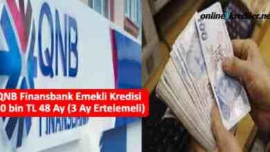 Photo of QNB Finansbank Emekli Kredisi 30 bin TL 60 Ay (3 Ay Ertelemeli)