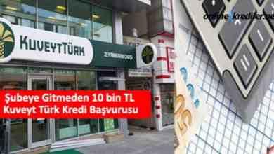 Photo of Şubeye Gitmeden 10 bin TL Kuveyt Türk Kredi Başvurusu