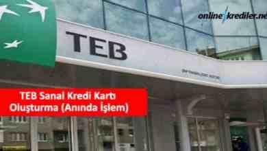 Photo of TEB Sanal Kredi Kartı Oluşturma (Anında İşlem)