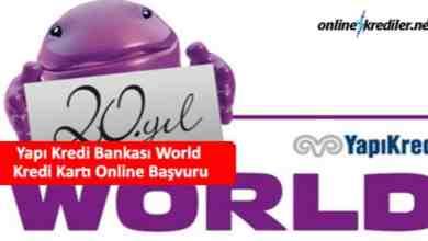 Photo of Yapı Kredi Bankası World Kredi Kartı Online Başvuru