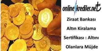 Ziraat Bankası Altın Kiralama Sertifikası