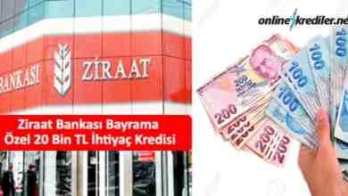 Photo of Ziraat Bankası Bayrama Özel 20 Bin TL İhtiyaç Kredisi