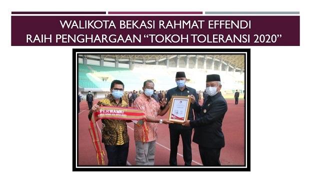 "Walikota Bekasi Rahmat Effendi Raih Penghargaan ""Tokoh Toleransi 2020"""