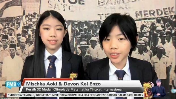 Devon Kei dan Mischka Aoki Ukir Prestasi di Olimpiade Matematika