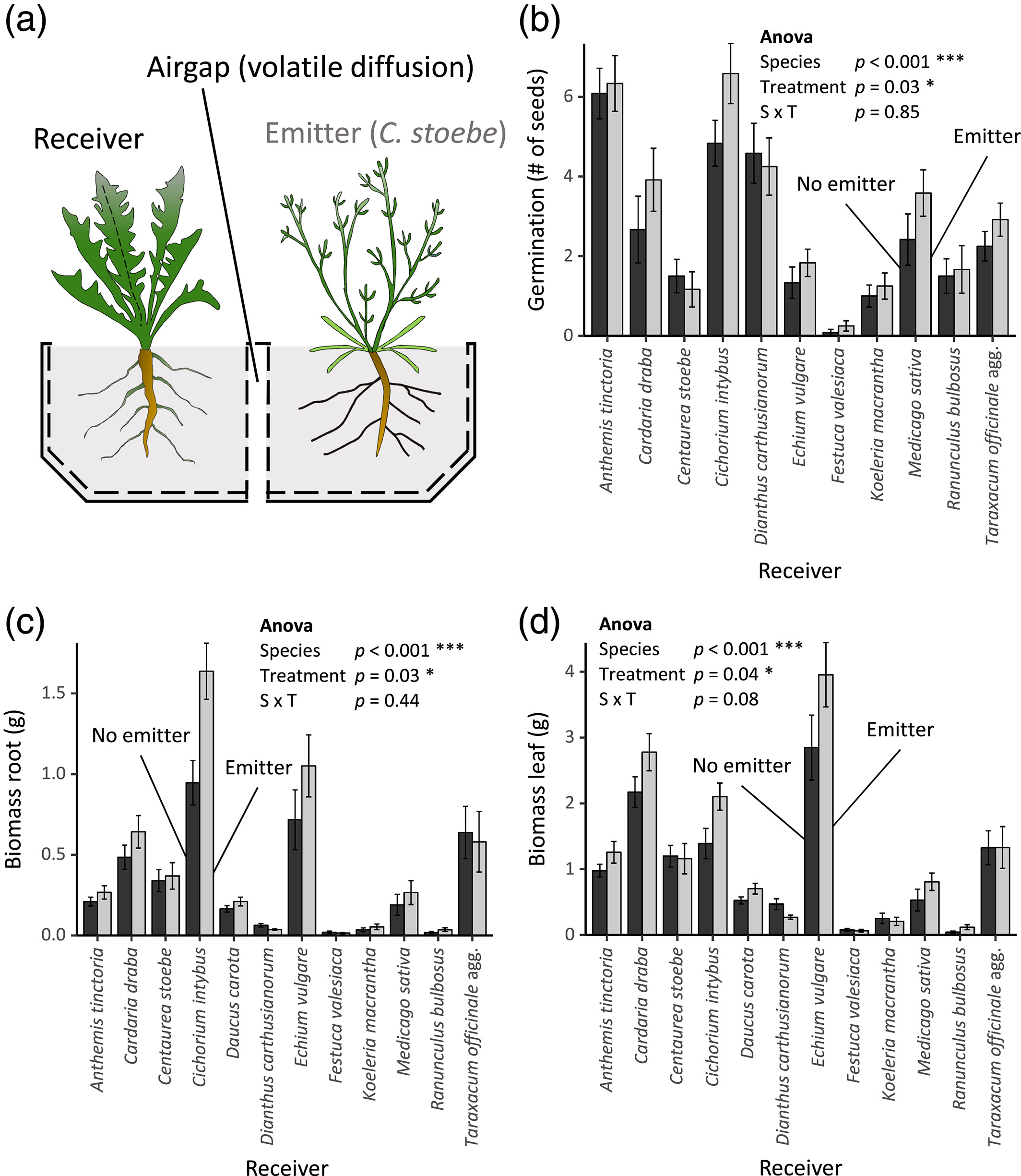 Root volatiles in plant–plant interactions I: High root
