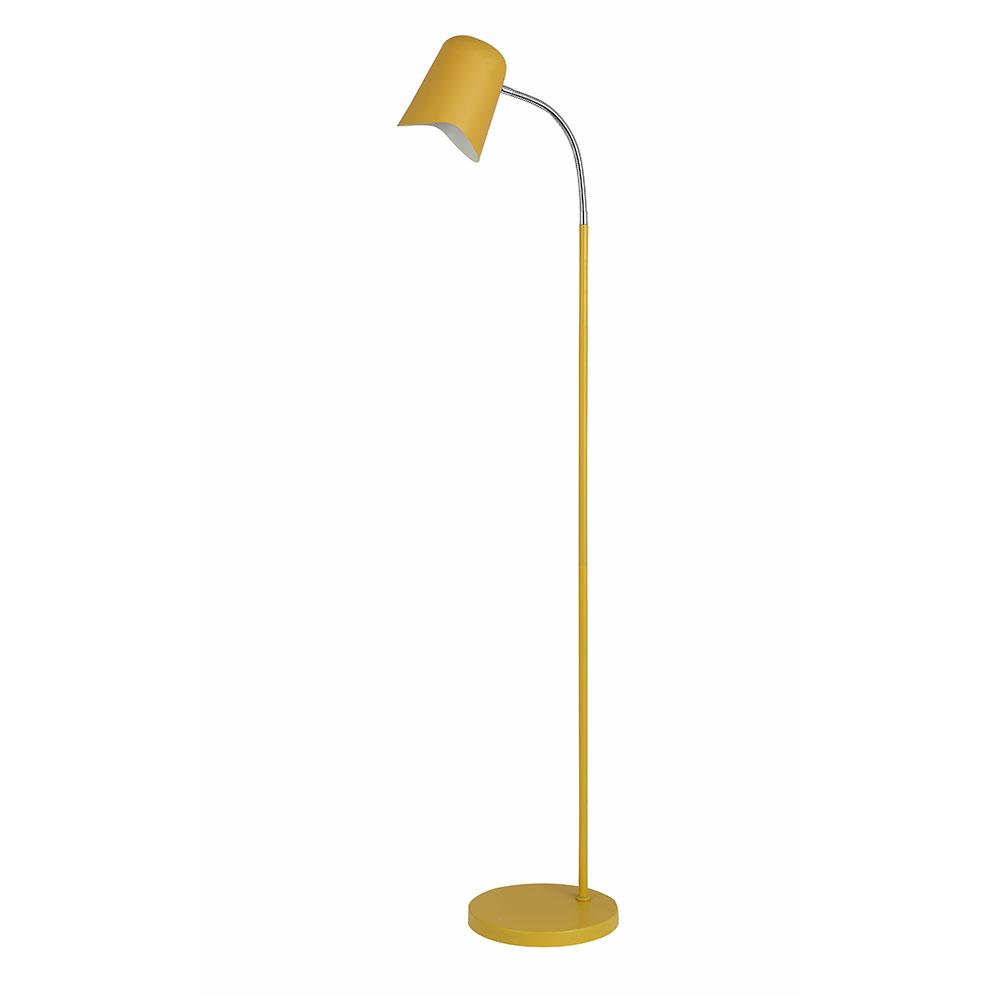 Gooseneck Modern Floor Lamp Matt Yellow Pastel28fl