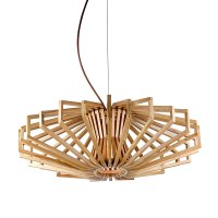 Agry 1 Light Small Wood Veneer Pendant