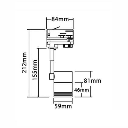 4 Wire 3 Circuit 240V GU10 Track Heads