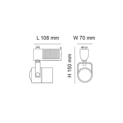 Single Circuit Spot I 3 Wire 5W LED Track Light White