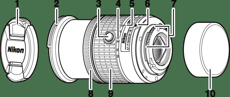 AF-P DX NIKKOR 18–55mm f/3.5–5.6G VR 렌즈