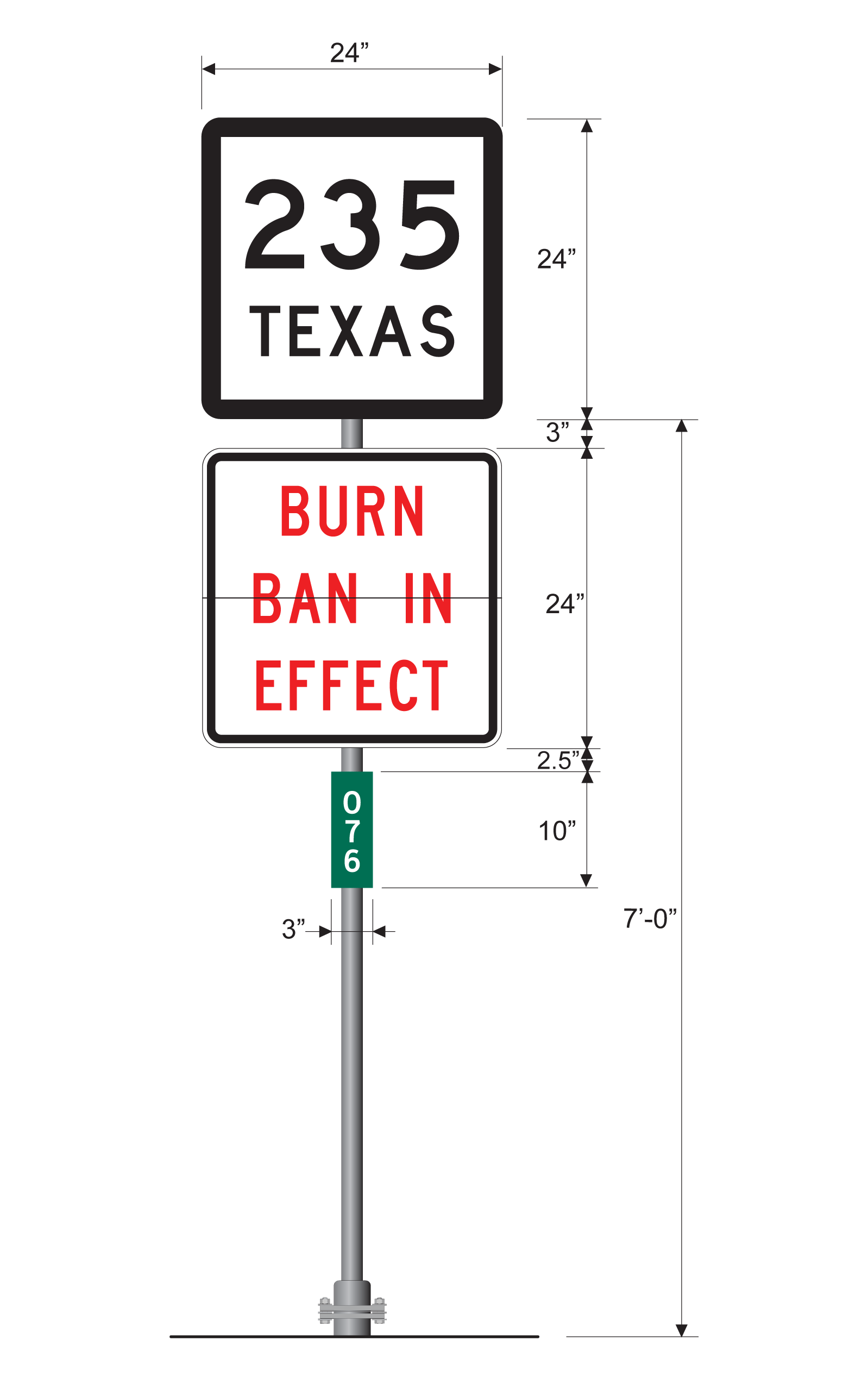 Sign Guidelines and Applications Manual: Burn Ban Sign