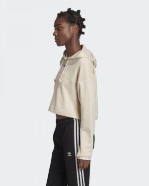 Дамски суитчър с качулка Adidas CROPPED HOODIE