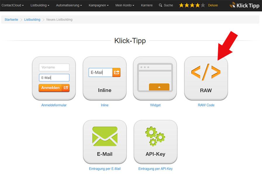 KlickTipp -Raw-Code