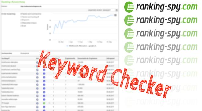 Keyword Checker kostenlos mit Ranking Spy