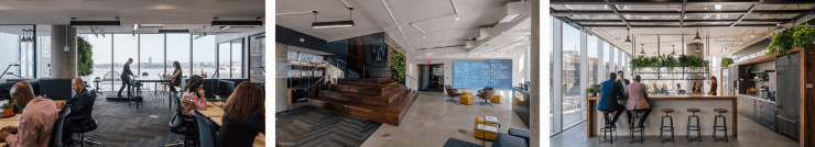 Interior photos of Delos' New York headquarters.
