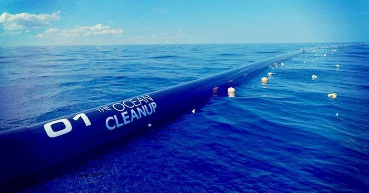 A floater from The Ocean Cleanup.