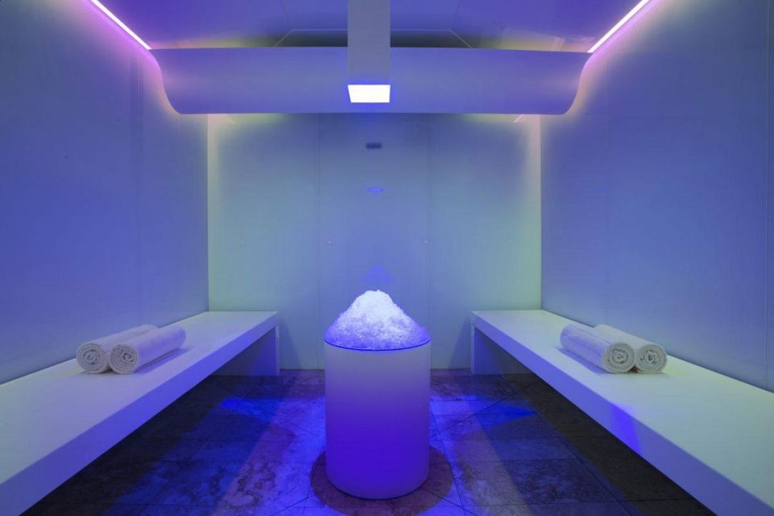Cool yourself off (and boost circulation) in Asia Pacific's only ice room.