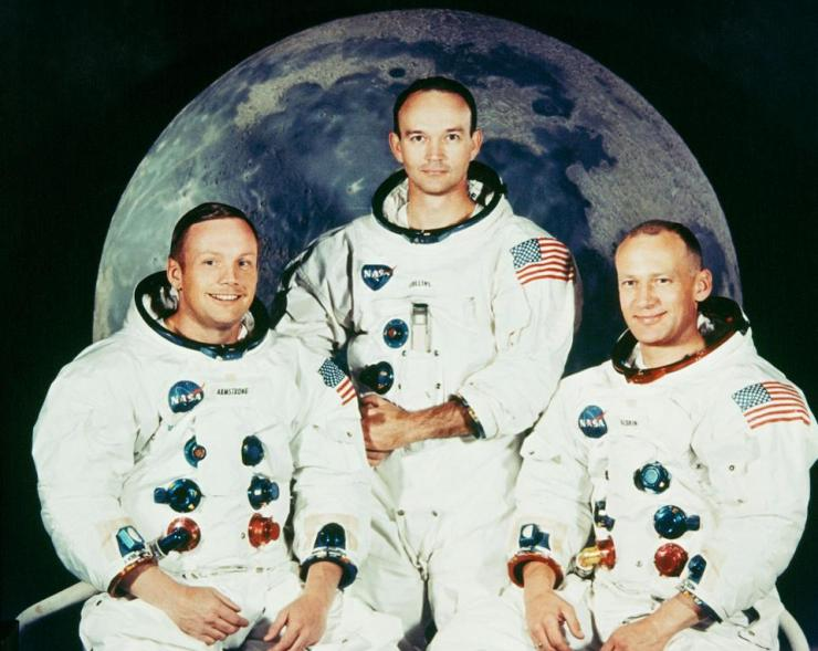 Neil Armstrong, Michael Collins And Edwin Aldrin In 1969