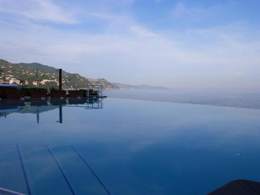 One of the infinity pools overlooking the coast..