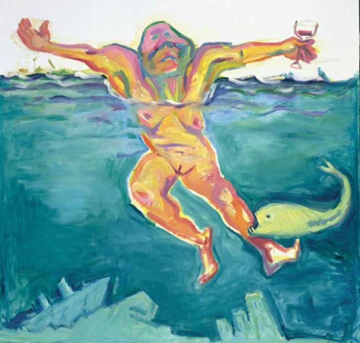 Maria Lassnig, The Quality of Life, 2001, courtesy Maria Lassnig Foundation