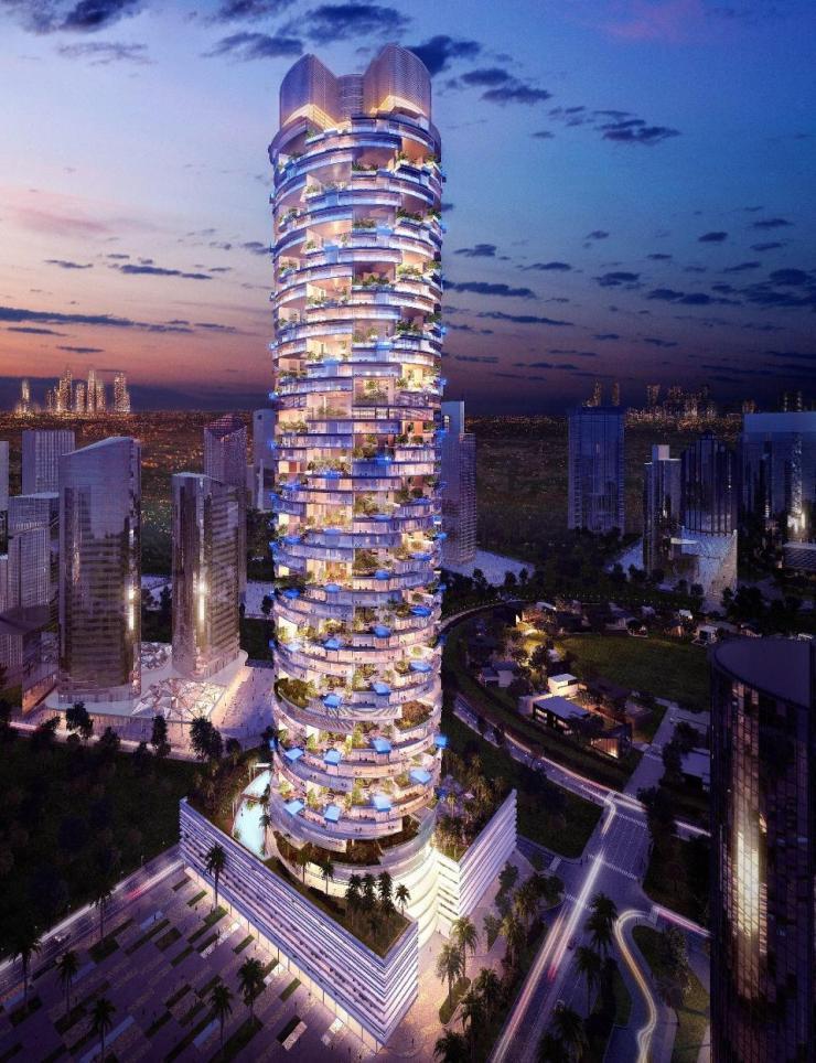 Tower view of FIVE Jumeirah Village Dubai