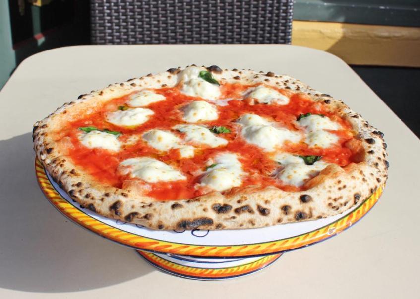 Tony's famous Margherita pizza.