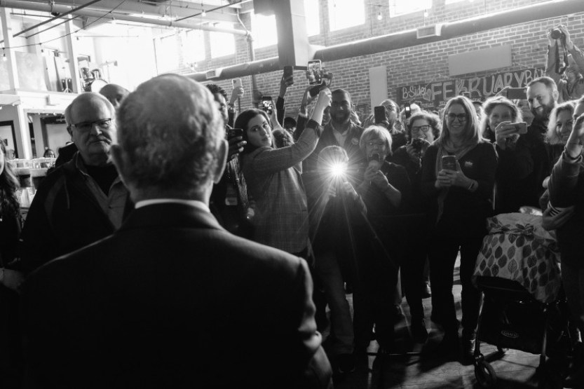 Bloomberg speaks at a rally in Memphis on Feb. 28.
