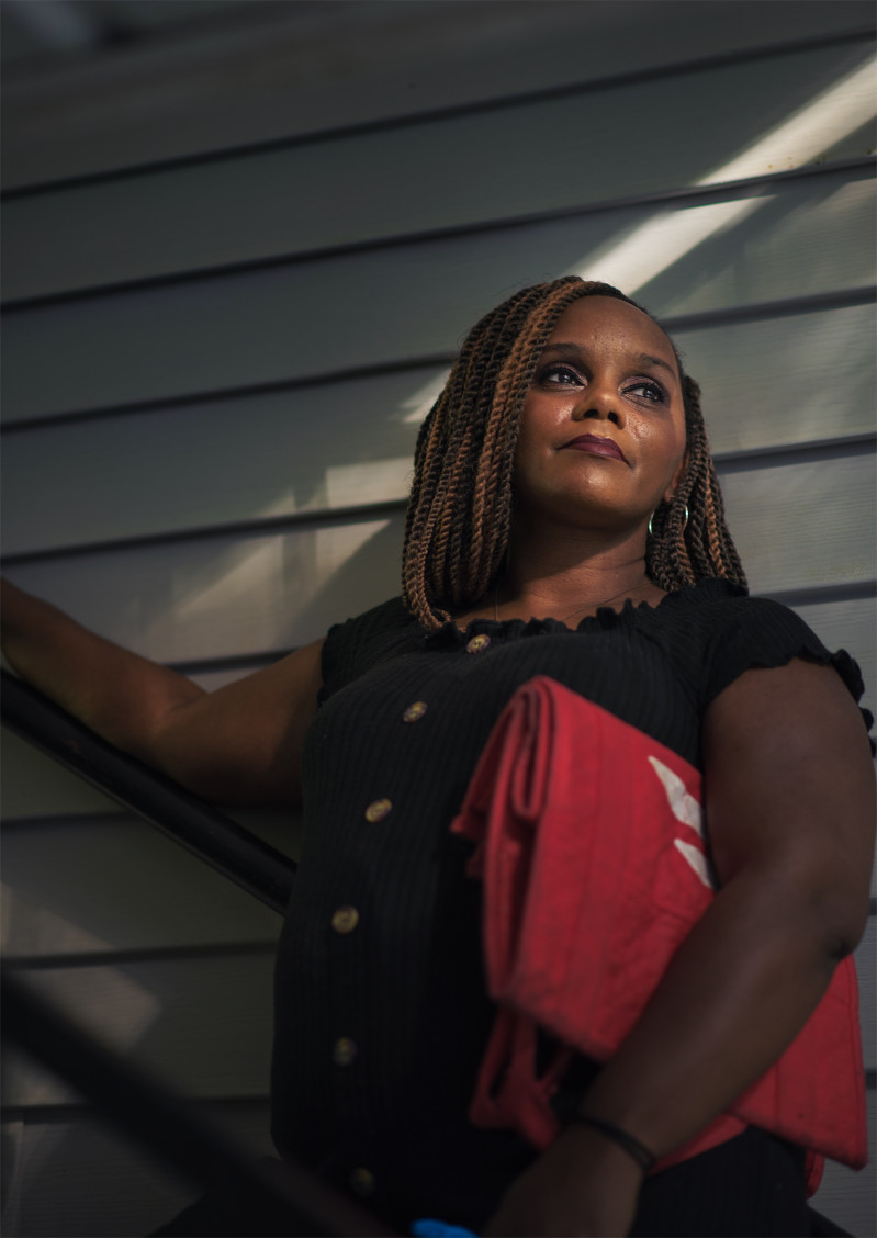 """Tanisha Robinson, 41, Nanny, Alpharetta, GA. After losing her job as a nanny in March, Robinson could no longer afford health insurance, so she's been rationing her lupus and anxiety medications. She doesn't know when she'll earn money again. """"My stimulus came and I was able to pay the balance of my rent for April and buy food,"""" she says, """"and now I'm right back where I started."""""""