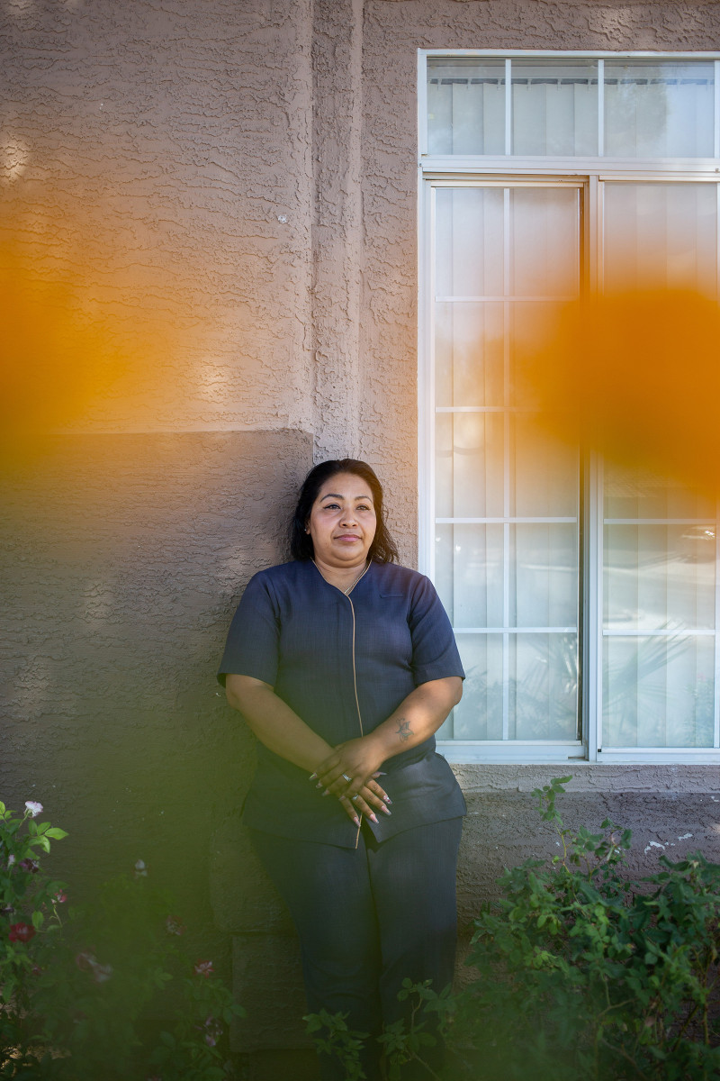 """Gladis Blanco, 40, Guest-room Attendant, Las Vegas. Blanco's last day of work at the Bellagio was March 17, and she received only two weeks of pay from the company when she was laid off. Since then she's been living on savings and taking care of her son, 14, and daughter, 17. """"It's good to have more time with them,"""" she says, """"but we have bills to pay."""""""