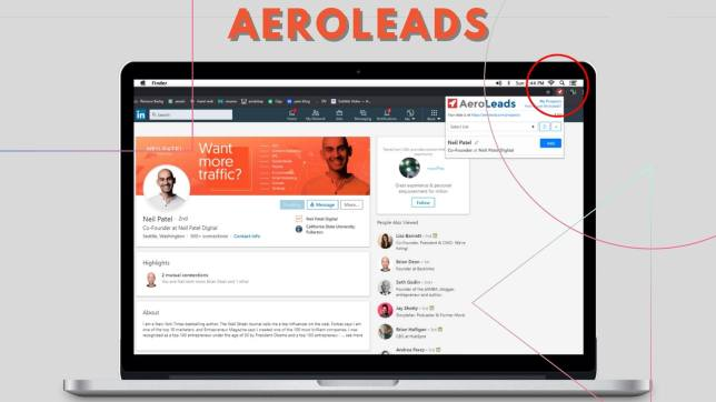 aeroleads to find email address