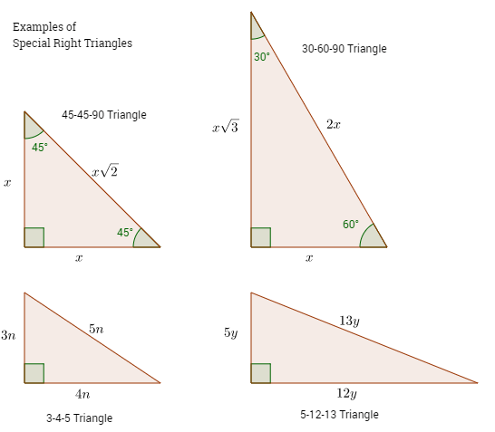 Special Right Triangles (solutions, Examples, Videos