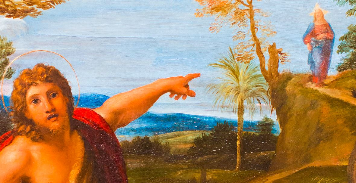 Image result for john the baptist pointing to jesus