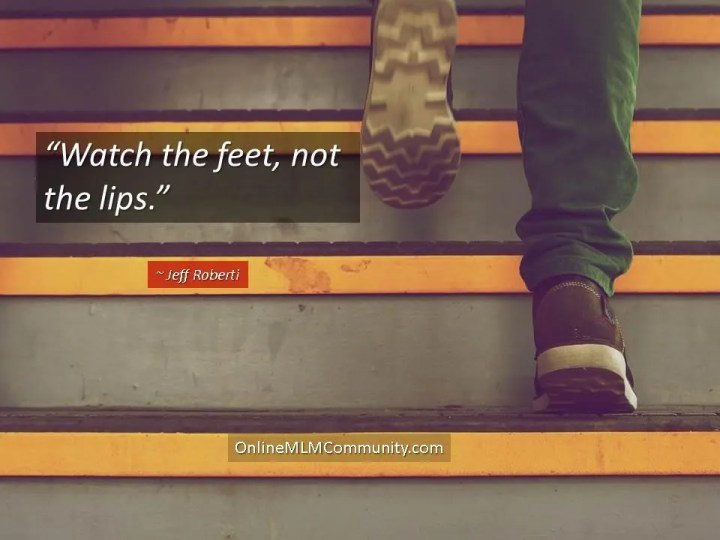 watch the feet not the lips