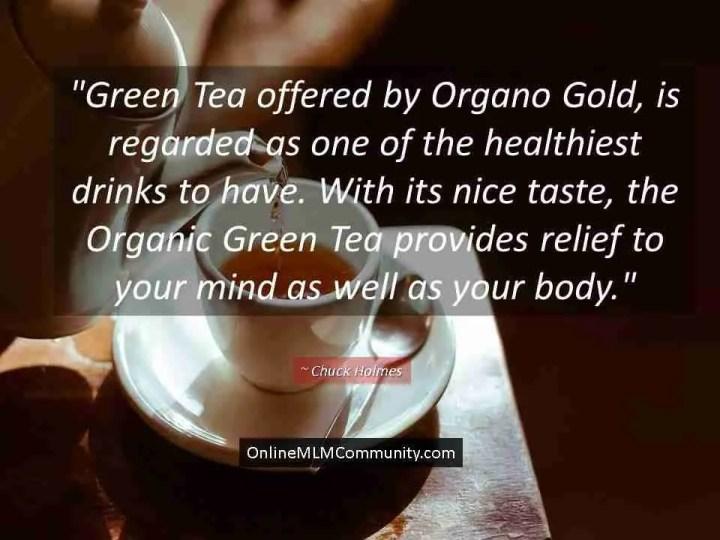 organo gold green tea