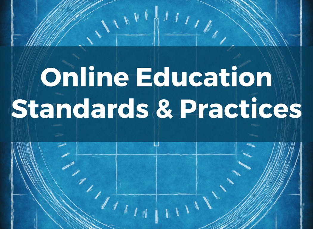 Course Image: Online Education Standards and Practices
