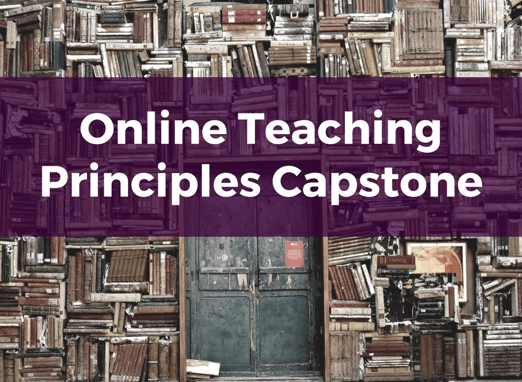 Course Image: Online Teaching Principles Capstone