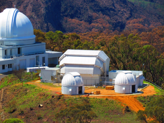 Picture of the 2 metre FT South facility at Siding Spring Observatory, Australia