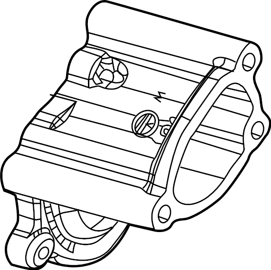 Toyota Corolla Engine Water Pump Housing. Cooling, System