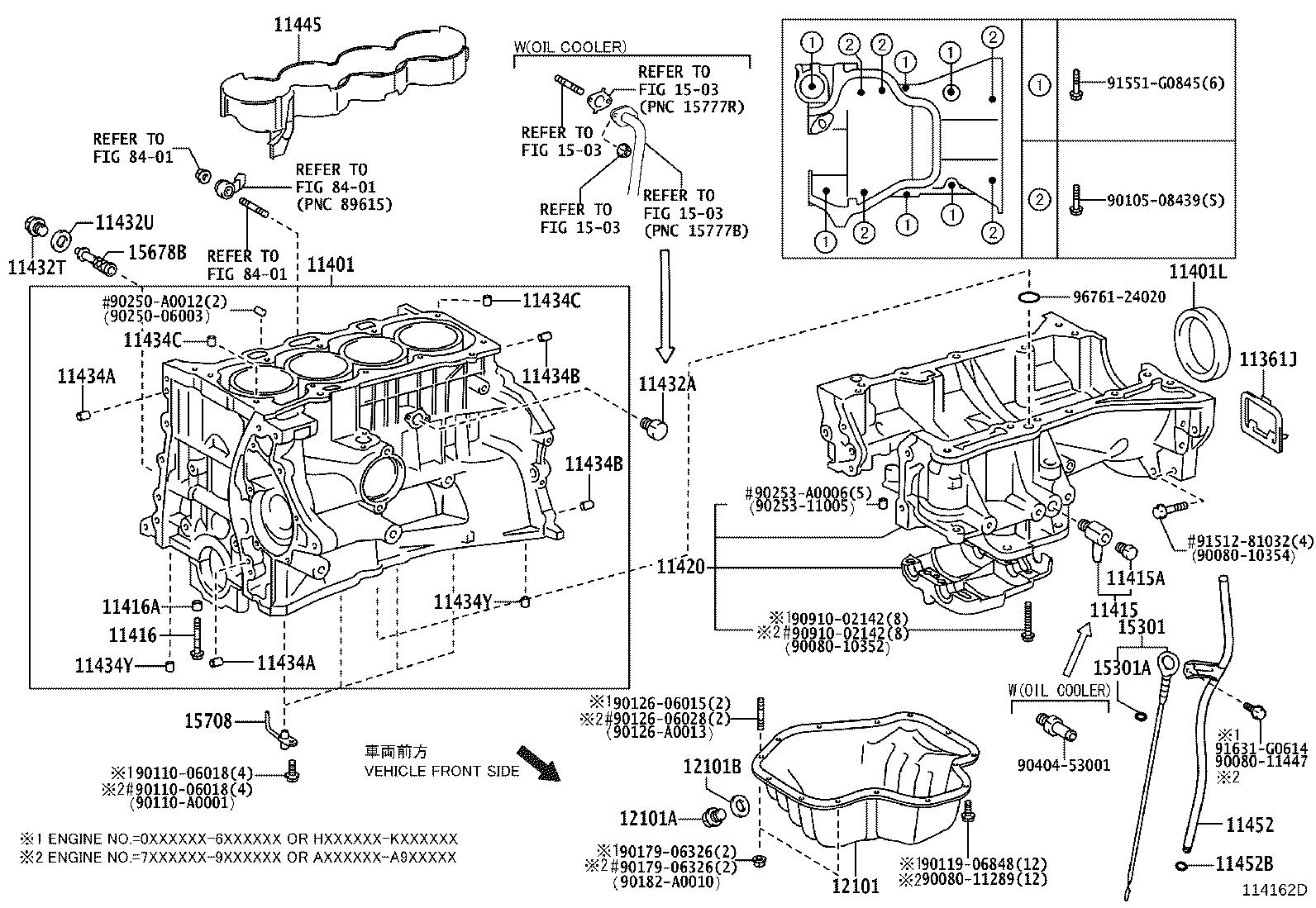Toyota Camry Ring. O(for oil level gage guide); o(for oil