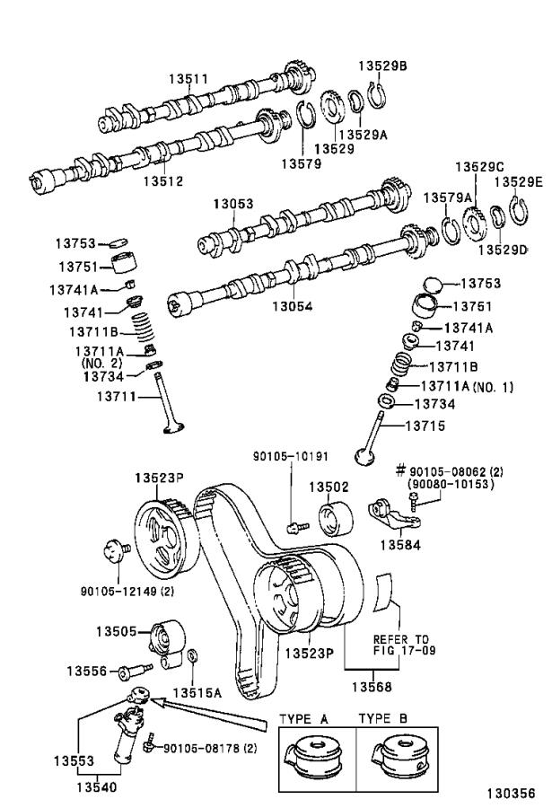 Toyota Sienna Engine Valve Stem Oil Seal (Left, Right