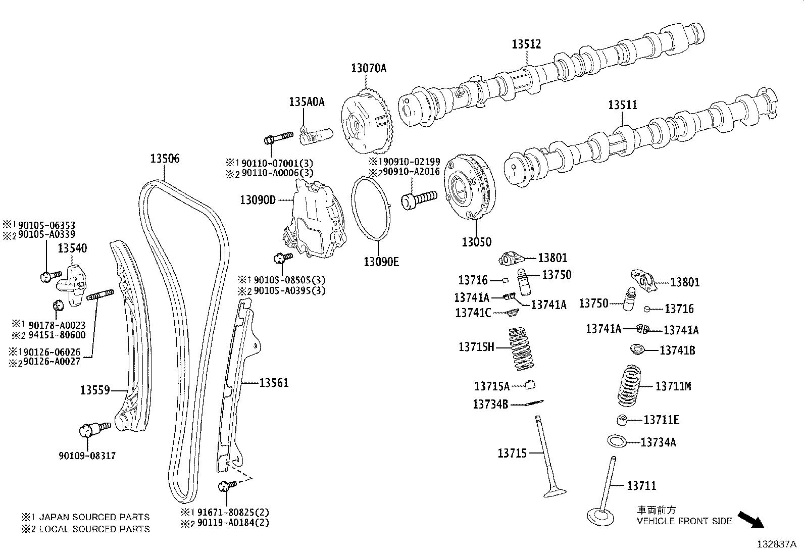 Toyota Rav4 Engine Timing Chain