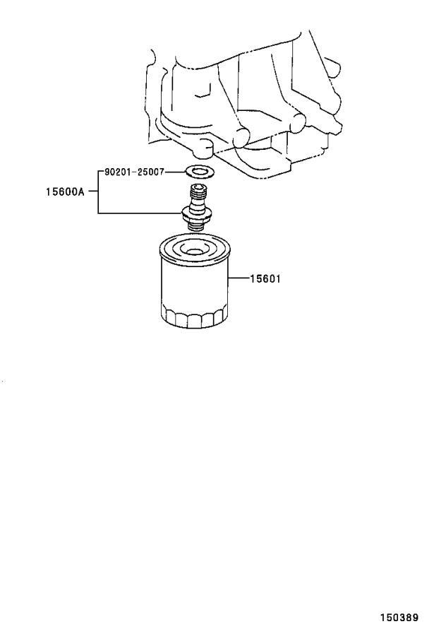 Toyota RAV4 Union(for oil filter). Cooler, engine, atm