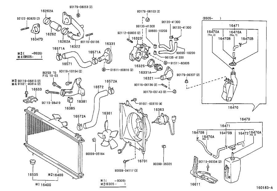Toyota Corolla Tank assembly, radiator reserve. Engine