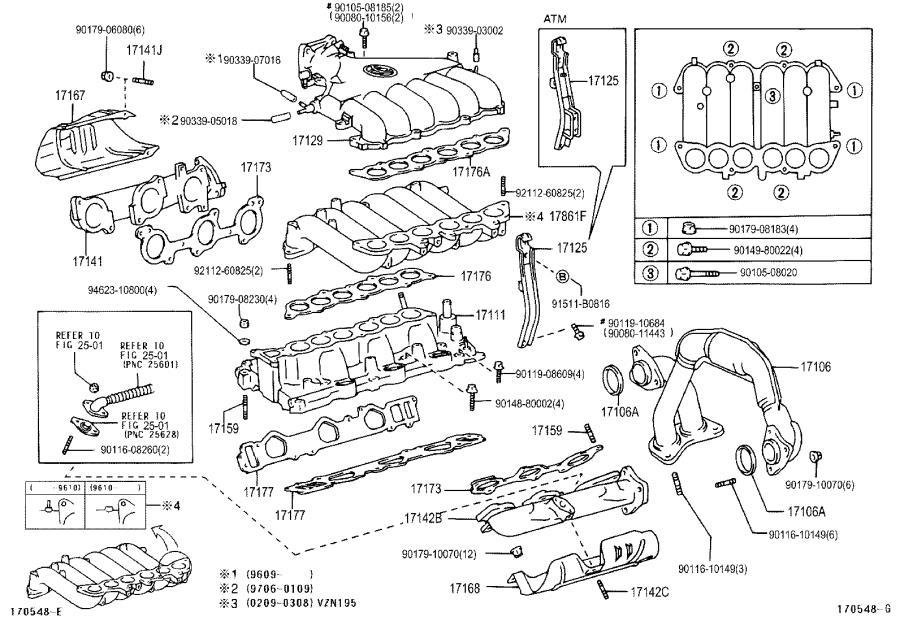 Toyota Tacoma Gasket(for manifold plug). Exhaust, engine