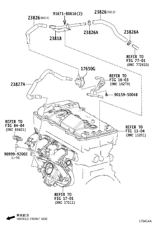 Toyota Prius Prime Evaporative Emissions System Lines