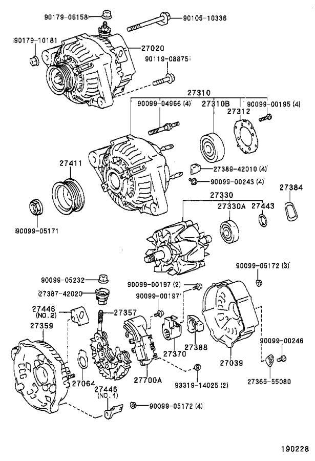 Toyota Corolla Bearing(for alternator drive end frame