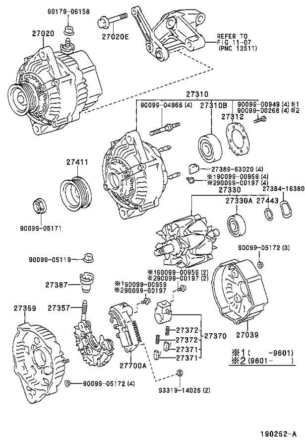 Toyota Tacoma Bolt. For alternator; hexagon(for air pump