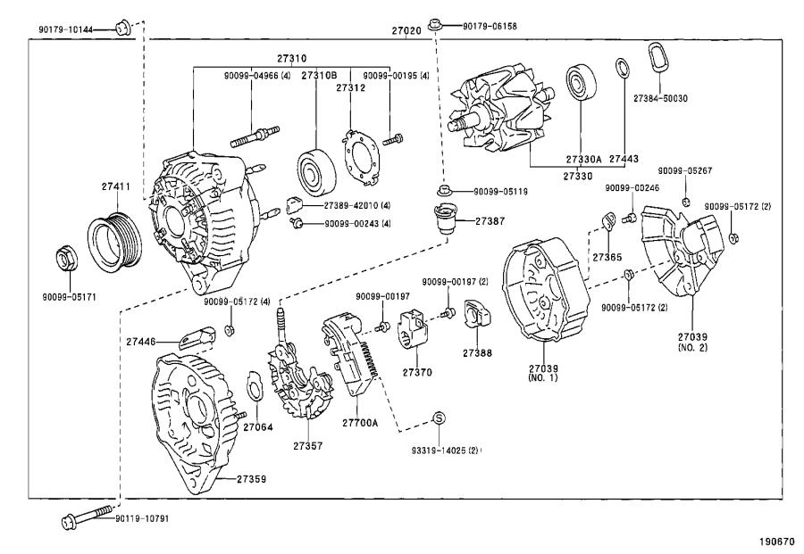 Toyota Land Cruiser Rotor assembly, alternator. Engine